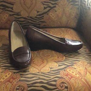 Bandolino Brown Loafer Wedges